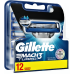 Сменные картриджи для бритья Gillette Mach 3 Turbo 12 шт