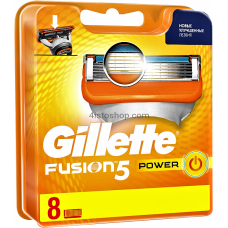 ОРИГИНАЛ!!! Сменные кассеты для бритья Gillette Fusion5 Power 8 шт