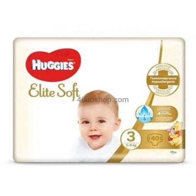 Подгузники Huggies 3 Elite Soft 5-9 кг 40 шт
