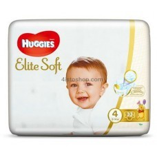 Подгузники Huggies 4 Elite Soft 8-14 кг 33 шт