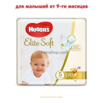 Подгузники Huggies 5 Elite Soft 12-22 кг 28 шт