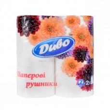 Бумажные двухслойные полотенца Диво