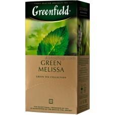 Чай зеленый пакетированный Greenfield Green Melissa 25 x 1.5 г
