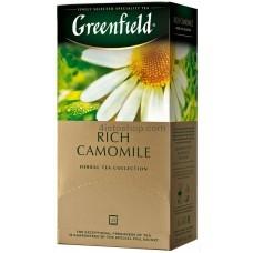 Чай травяной пакетированный Greenfield Rich Camomile 25 x 1.5 г