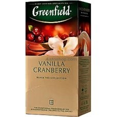 Чай черный пакетированный Greenfield Vanilla Cranberry 1.5 г х 25 шт