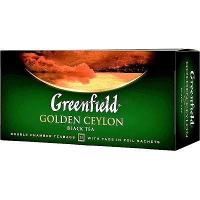 Чай Greenfield пакетированный Golden Ceylon 25 x 2 г