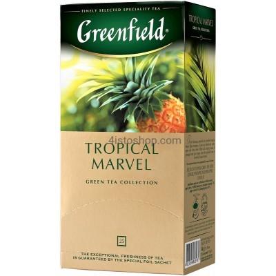 Чай зеленый Greenfield пакетированный Tropical Marvel 25 x 1.5 г