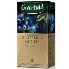 Чай черный пакетированный Greenfield Blueberry Nights 1.5 г х 25 шт