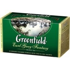 Черный чай Greenfield Earl Grey Fantasy с бергамотом 25 пакетиков