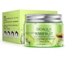 Маска для лица Ночная Bioaqua Kiwi Fruit Sleepimg Mask с киви и муцином улитки 120г
