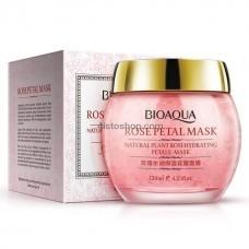 Ночная увлажняющая маска для лица с экстрактом розы Bioaqua Rose Petal 120мл