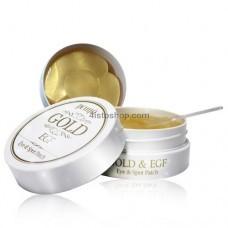 Патчи под глаза Petitfee с освежающим эффектом Premium Gold & EGF Eye Patch 60 шт