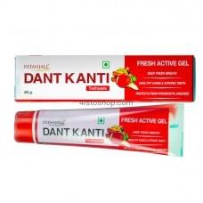 Зубная паста Patanjali Dant Kanti Fresh Active Gel Противовосполительная 80г