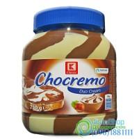 Шоколадная паста Chocremo Duo Cream белый и молочный шоколад с ореховым вкусом 750г