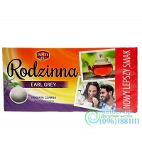 Чай черный Rodzinna Earl Grey 80 пакетиков