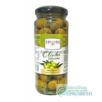 Зелёные оливки без косточки Helcom 345 г