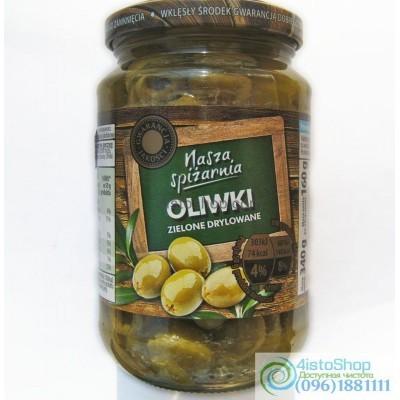 Оливки зелёные Nasza Spizarnia без косточки 340 г
