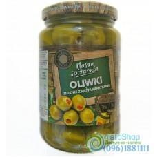 Оливки зелёные фаршированные паприкой Nasza Spizarnia 340 г