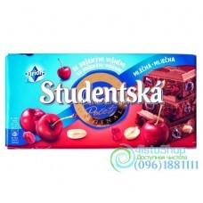 Шоколад молочный Studentska Pecet вишнёвая 180 г