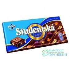 Шоколад молочный Studentska Pecet с арахисом и изюмом 180 г