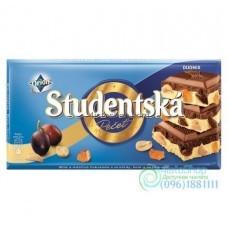 Шоколад молочный и белый Studentska Pecet Duomix 180 г