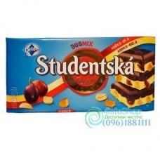 Шоколад чёрный и белый Studentska Pecet Duomix 180 г