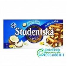 Шоколад молочный Studentska Pecet кокос 180 г
