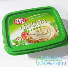 Сыр мягкий MLEKOVITA Gouda с зеленью 150 г