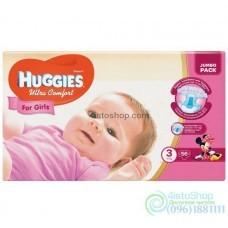 Подгузники Huggies 3 Ultra Comfort для девочек 5-9 кг 56 шт