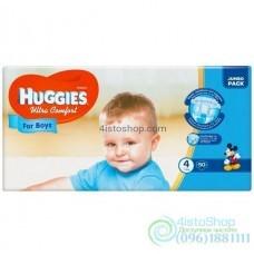 Подгузники Huggies 4 Ultra Comfort для мальчиков 8 - 14 кг 50 шт