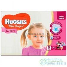Подгузники Huggies 5 Ultra Comfort для девочек 12 - 22 кг 42 шт