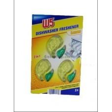 Освежитель для посудомойки W 5 Lemon 2 in 1 3х6 ml