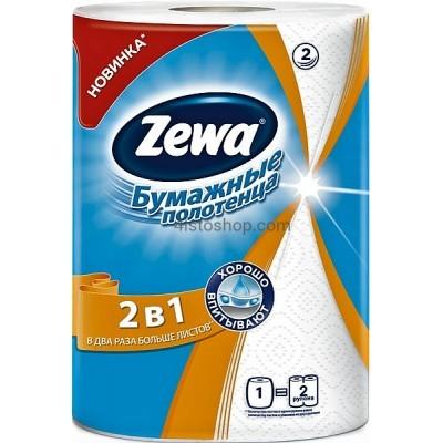 Zewa Бумажные полотенца 2 в 1 2-слойные