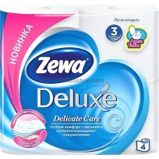 Туалетная бумага Zewa Deluxe трехслойная без аромата 4 рулона