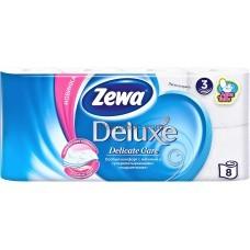 Туалетная бумага Zewa Deluxe трехслойная без аромата 8 рулона