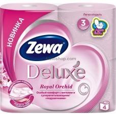 Туалетная бумага Zewa Deluxe трехслойная аромат Орхидея 4 рулона