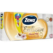 Туалетная бумага Zewa Exclusive Almond Milk 4 слоя 8 рулонов