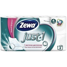 Туалетная бумага Zewa Exclusive Just 1 4 слоя 8 рулонов