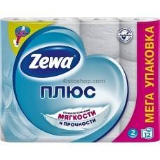 Туалетная бумага Zewa Плюс двухслойная 12 рулонов