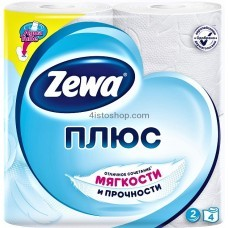 Туалетная бумага Zewa Плюс двухслойная 4 рулонов