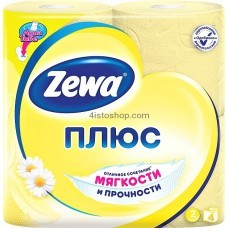 Туалетная бумага Zewa Плюс аромат Ромашки   двухслойная 4 рулонов
