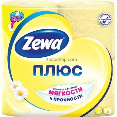 Туалетная бумага 4 рулона Zewa Плюс аромат Ромашки   двухслойная
