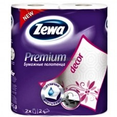 Бумажные полотенца Zewa Premium Декор 2 рулона