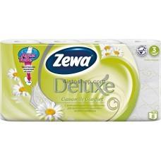Туалетная бумага Zewa Deluxe трехслойная 8 рулонов аромат Ромашки