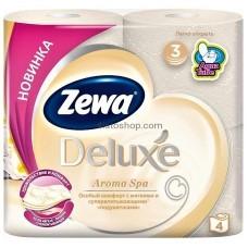 Трехслойная туалетная бумага Zewa Deluxe Aroma Spa 4 рулона