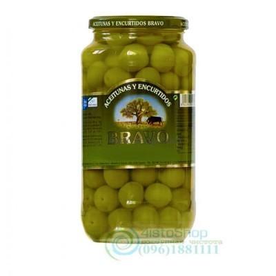 Оливки Bravo зеленые с косточками Сbupadedoe 1000 г