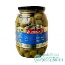 Оливки Maestranza зеленые с косточкой вкус Анчоуса 950 г