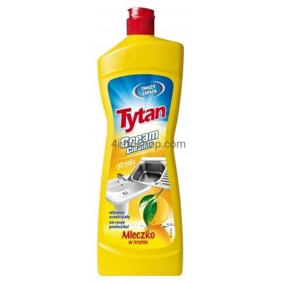 Универсальное молочко для чистки Tytan Лимон 900г