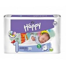 Подгузники Bella Happy 1 Newborn с индикатором 2-5 кг 25 шт