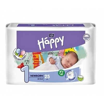 купить подгузники Bella Happy 1 Newborn с индикатором от 2 до 5 кг 25 шт